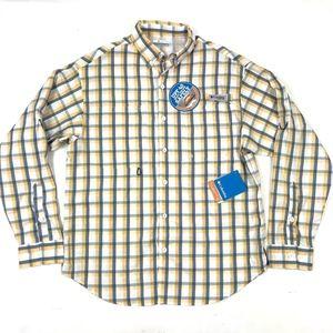 NWT Columbia Blue Yellow Plaid Long Sleeve Shirt